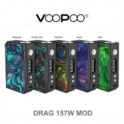 VOOPOO DRAG 157W TC BOX MOD BLACK FRAME RESIN VERSION
