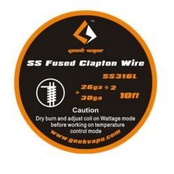 GEEK VAPE SS CLAPTON WIRE (SS316L 26GA + 30GA) 10FT