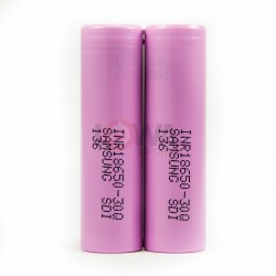 Samsung Pink INR18650-30Q 3000mAh 20A Rechargeable Batteries 2-PACK